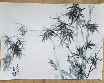 Traditional Chinese painting: Summer bamboo