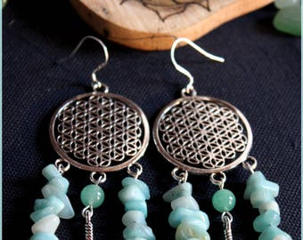 "Earrings ""Fleur of Amazonite"""