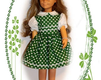 "Charmin doll not included. Clothes only.  St Pat's Bonnie Lass. Fits 24"" tall dolls St Patricks Green Clover Dress,  Bow, Panties"