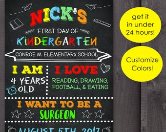 First day of school chalkboard printable, back to school, 1st day of school, Back to school chalkboard sign, Back to school chalkboard,