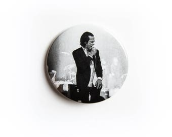 Choir Nick Cave and The Bad Seeds live concert photography 2 1/4 inch photo pin back button