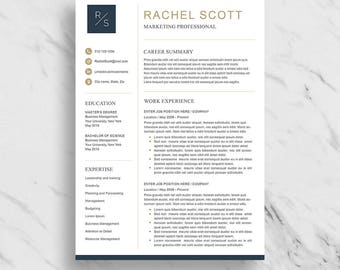 Handmade marketing resume template etsy creative resume template for word modern resume design cv template for word 2 yelopaper Choice Image