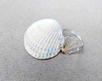 Wire Seashell Ring