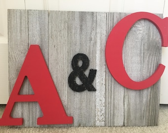 Monogrammed Vintage Wall Decor