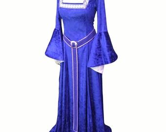 Medieval dress, renaissance dress, prom, Gothic gown, Princess dress, handfasting, bridesmaid dress