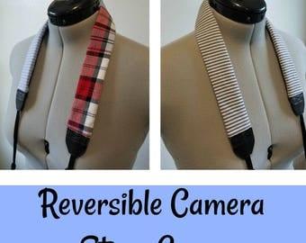 REVERSIBLE Vintage Camera Strap