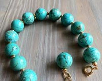 Turquoise color gemstone bracelet