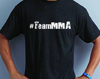 Team MMA Black and White Statement Tee - Choose a side McGregor v Mayweather