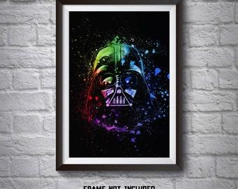 Darth Vader Helmet Abstract Poster - Wall Art Poster -  Star Wars Poster - Printed Movie Poster - Star Wars Print