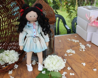Fabric doll toy