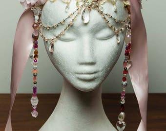 Pink Floral Headress
