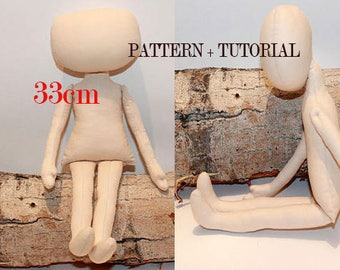 pdf doll body pdf pattern pdf rag doll pattern blank rag doll pdf ragdoll pattern fabric doll pattern doll blank tutorial doll making pdf