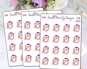 Pink Hedgehog Planner Sticker, Hedgehog Cleaning Sticker, Hedgehog Chores Stickers, Errands Sticker, Planner Accessories, Scrapbook Sticker