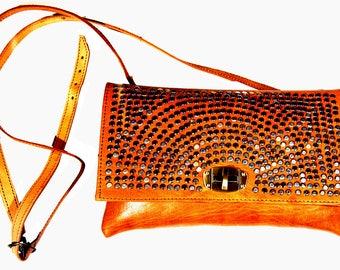 Handmade Leather Crossbody handbag