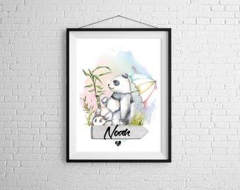 Custom poster Pandas