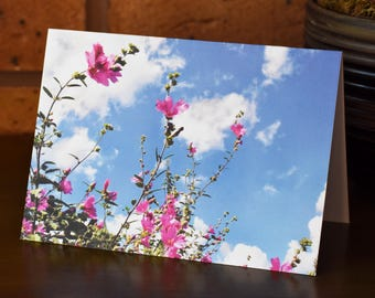 Great pink Willow herb - Wild Flower - Greeting Card
