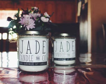 100% Vegan Soy Candle, phthalate free, handpoured, beach linen