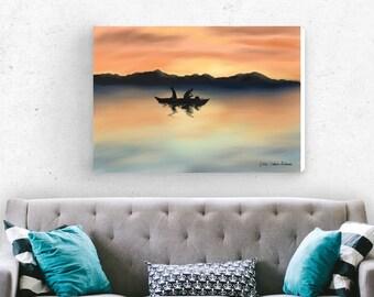 Original painting | Canvas art print | Wall decor | Landscape painting | Giclee print | Modern art | living room decor | wall art print