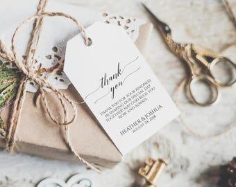 Wedding Favor Tags Printable, Printable Wedding Thank You Tags, Wedding Favor Tags, Thank You Tags, Gift Tags, Favor Tags, Wedding Tag, 6051