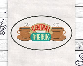 Central perk 4 sizes Embroidery design Machine embroidery ZIP file INSTANT DOWNLOAD EE5018