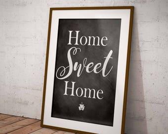 Farmhouse Printable, Home Sweet Home, Chalkboard Sign, Modern Farmhouse Decor, Home Decor, Instant Download, Printable Art