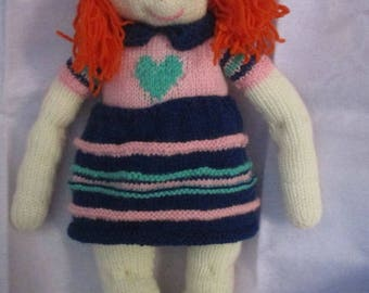 MADELINE hand knitted doll
