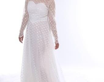 Genuine Vintage 1960s Wedding Dress