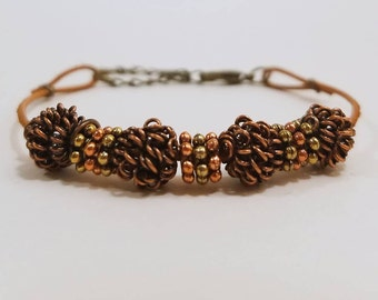 Leaf Charm Bracelet Autumn Jewelry Fall Bracelet Fall