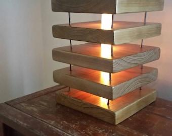 Layered Wood Lamp