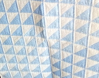 Blue Ombre Baby Quilt
