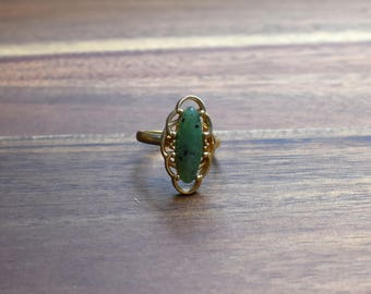 Vintage Sarah Coventry, Faux Jade Adjustable Ring