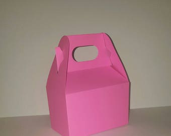 Bubble Gum Pink Favor Boxes - Blank Gable - Package of 10