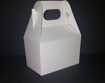 White Favor Boxes - Blank Gable - Package of 10