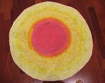 Sunshine Yellow Rag Rug