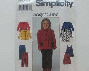 Simplicity Toddler Pants, Jumper, Dress and Jacket  7872 - Uncut