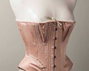 1864 Pink Silk Stays (English style)