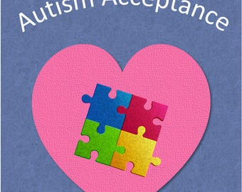 """Autism Acceptance 5x7"""" greeting card"""