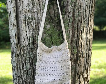 woven crossbody with wooden beads