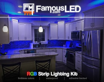 Under Cabinet LED Strip Kitchen Light || Energy Efficient || 50,000+ Hours Lifespan || More than 200 Lighting Patterns || Waterproof || RGB