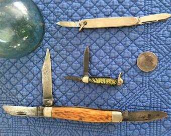 Lot B of Pocket Knives