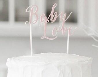 Girl  Babyshower Pink cake topper