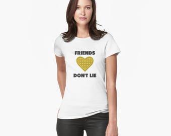 Friends Don't Lie Women's short sleeve t-shirt | Stranger Things | Eleven