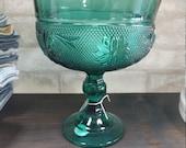 Vintage Green Goblet...