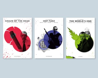 Cornetto Trilogy Alternative Poster Set