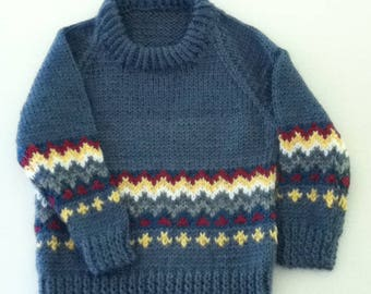 Blue Pullover Sweater for 12 - 15 months