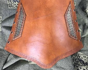 Bracer/Vambrace Genuine Leather Handmade Brown