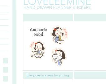 CoCo Noodle Soup, Ramen, Pho, Planner Stickers