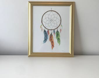 Dreamcatcher Original Artwork - Pencil Illustration