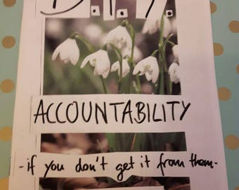 DIY Accountability - if you dont get it from them- do it yourself