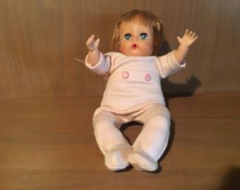 Vintage Vogue Doll - Li'l Dear Doll, 8 inches tall, vinyl head and limbs, stuffed cloth body